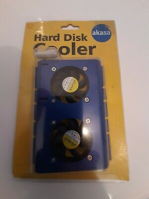 Akasa Hard Disk Cooler Safety Approved Fan Twin Fan Airflow Factory Packed BNIB • 5.99£