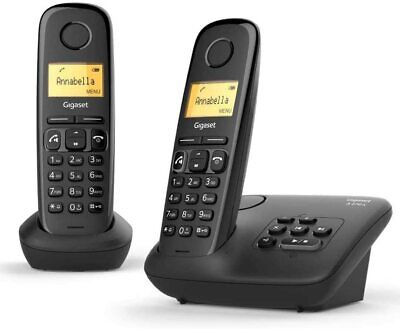 Gigaset A270A Duo Easy To Use Twin Cordless Home Telephones W/ Answering Machine • 39£