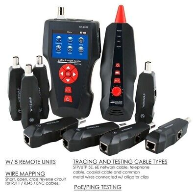 NF-8601W  Noyafa Network Tracker Wire&Cable Finder/Tester LCD RJ11 RJ45 PING/POE • 122.70£
