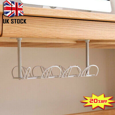 Cable Management Tray 32cm Under Desk Cable Organizer For Wire Heavy Stander Set • 4.55£