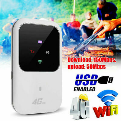Unlocked 4G-LTE Mobile Broadband WiFi Wireless Router Portable MiFi Hotspot • 22.99£