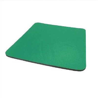 Green Fabric Mouse Mat Pad High Quality 5mm Thick Non Slip Foam 25cm X 22cm • 1.99£