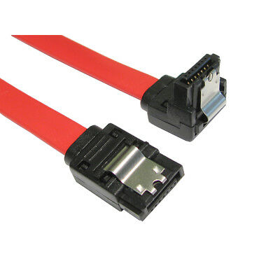 45cm Right Angle SATA Cable Serial ATA Data Lead Locking Latching S-RA 0.5m • 1.99£