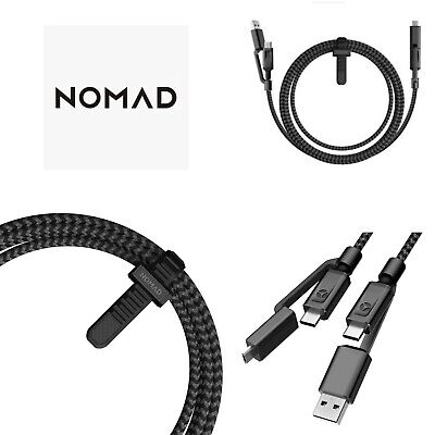 NOMAD Ultra Rugged Universal 4-In-1 USB-C Cable 1.5m With Micro USB • 11.99£