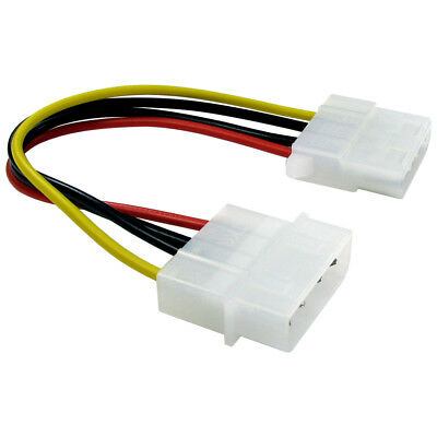 15cm Molex Extension Cable 4 Pin 5.25 Male To Female IDE PSU Internal PC Power • 1.59£