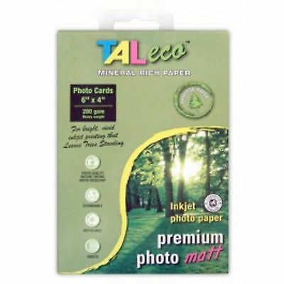 TALeco 4 X 6 Treeless Photo Paper - MATT- 280GSM - Pack Of 50 Sheets - NEW • 3.99£
