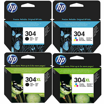 Original HP 304 / 304XL Black & Colour Ink Cartridges For ENVY 5020 Printer • 24.99£