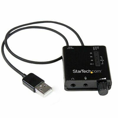 StarTech.com USB Stereo Audio Adapter External Sound Card With SPDIF Digital Aud • 32.40£