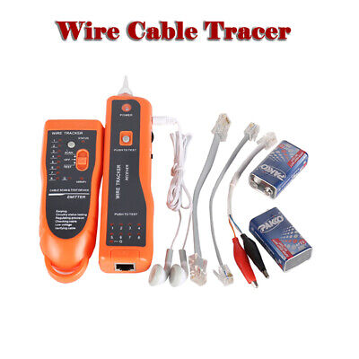 Wire Cable Tracer Tone Generator Finder Probe Tracker Network Tester With Case • 22.99£