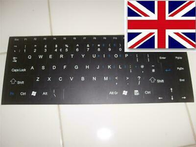 Black UK Keyboard Overlay Querty Dell Precision Studio Vostro  Stickers Labels • 2.69£