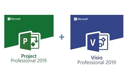 INSTANT 5PC - 2019 Microsoft Visio Pro+ Project Pro RETAIL+ Download Link! • 5.99£