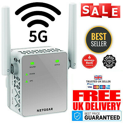 5G WiFi Range Extender Signal Booster Network NETGEAR EX3700 Internet Wireless • 69.99£