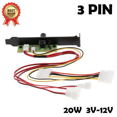 Cooler Cooling Fan Speed Controller 3 Channels PC For CPU Case HDD DDR VGA AS L • 5.89£