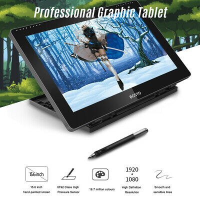 BOSTO BT-16HD Graphic Drawing Tablet Digital Pad 15.6  With Stylus Pen Glove Kit • 154.79£