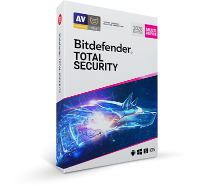 Bitdefender Total Security 2020 (5 User) Multi Device & VPN Genuine License Key • 19.59£