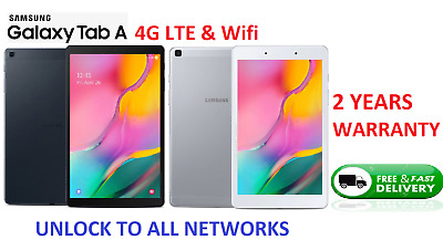 Brand NEW Samsung Galaxy Tab A (8.0 ) Wifi + 4G LTE Unlocked 32GB Android Tablet • 114.95£