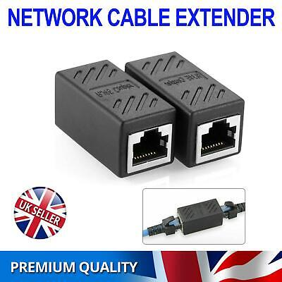 RJ45 Inline Extender Coupler Cat6 Cat5e Ethernet Network Cable Adapter Joiner UK • 2.69£