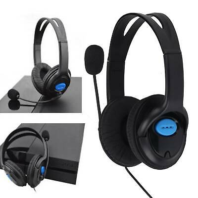 Deluxe Pro Headset Headphones Microphone With Mic Volume Control For PS4 And PC • 14.59£