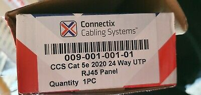 Connectix Cabling Systems 2020 Series 24 Way Cat5e Panel • 19£