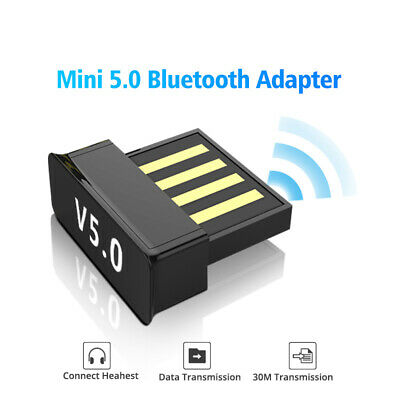 USB Bluetooth V5.0 Wireless Mini Dongle Adapter Fit For Windows 7/8/10 PC Laptop • 3.99£