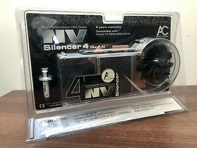 NV Silencer 4 (Rev. 2) Heatsink Cooler For NVIDIA FX 5900 Ultra/5950 Ultra • 20£