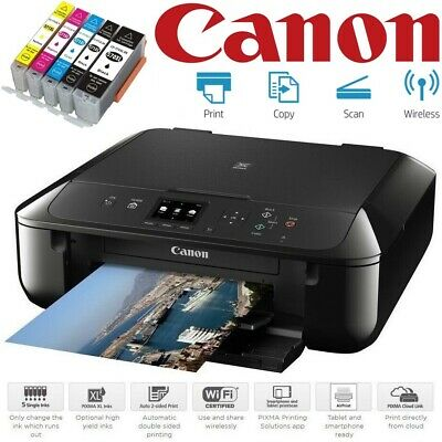 Canon PIXMA MG5750 Wireless A4 All-in-One Wi-Fi Inkjet Photo Printer + XL Inks • 89.99£