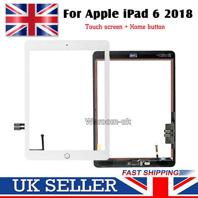 For 2018 IPad 6th Gen A1893 A1954 Touch Screen Digitizer Replacement White + IC • 10.99£