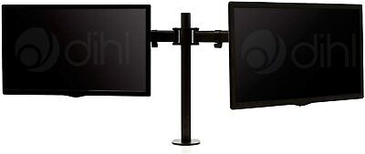 Dihl Double Twin Dual Arm Desk Mount Bracket For 13-27in LCD/LED Monitor • 5£
