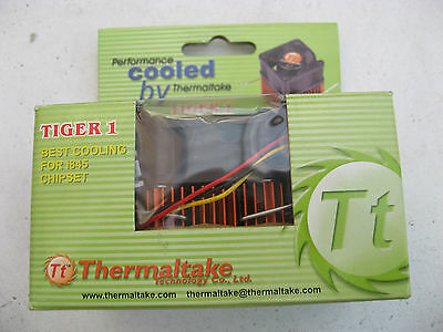 UNUSED THERMALTAKE TIGER 1 CPU HEATSINK/FAN FOR INTEL I845 CHIPSET STILL BOXED. • 15£