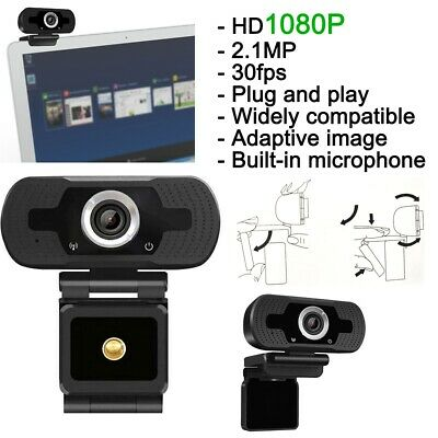 HD Webcam 1080P With Microphone PC Laptop Desktop Android TV USB Camera Clip UK • 10.99£