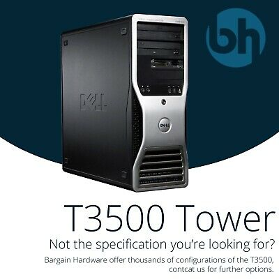 Dell T3500 Precision Workstation Six 6 Core Xeon Quadro GFX GB RAM Tower PC • 202.45£