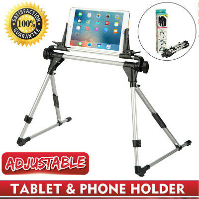 Adjustable Foldable Floor Mount Holder Aluminum Tablet Stand For Ipad & IPhone • 12.98£