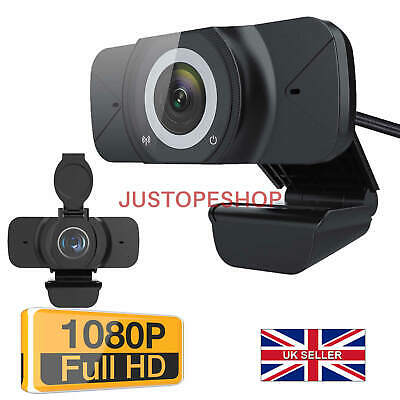 Full HD 1080P Webcam USB AutoFocus Web Camera With Microphone For PC Laptop UK • 19.95£