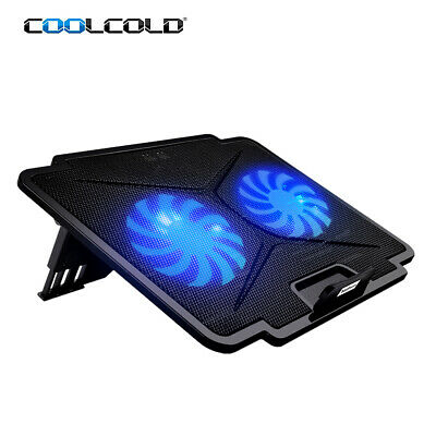 Portable COOLCOLD Laptop Notebook Cooler USB 2 Cooling Fans Stand Radiator E2P9 • 16.99£