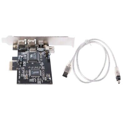 1394A Firewire Card Adapter PCI-e 1X IEEE 4 Port (3+1) With 6 Pin To 4 Pin Cable • 9.38£