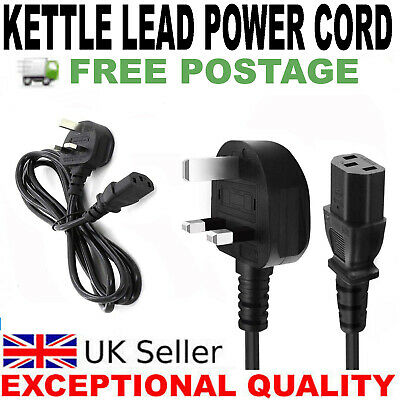 1M 3 Pin Prong UK Power Cable Plug Cord Fuse Kettle Lead For Samsung Sony PC TV  • 4.95£