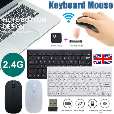 2.4G Wireless Keyboard & Cordless Optical Mouse Combo Set For PC Desktop Latptop • 11.99£
