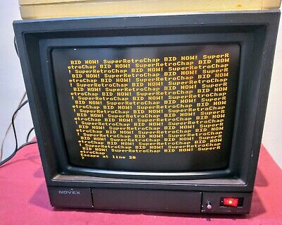 12  Amber Composite CRT Monitor Tested & Working.  BUYER COLLECTS  • 85£