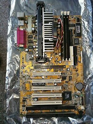 Msi Ms-6199va Motherboard With PIII 733Mhz CPU And 512Mb 133Mhz Ram. • 23£