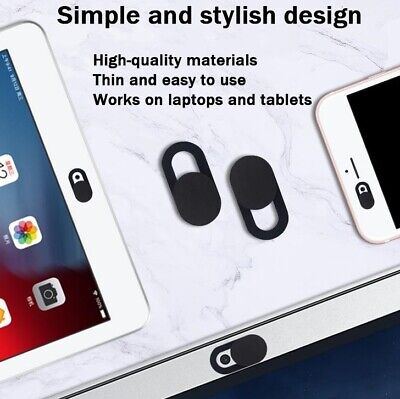 3x Webcam Cover Thin Camera Slider For IPhone Laptop Mobile Tablet Macbook IPad • 1.99£