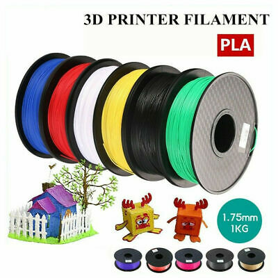 3D Printer Printing Filament 1.75mm 1KG Spool Accuracy Makerbot PLA Material New • 12.99£