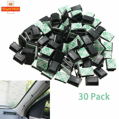 30PCS Wire Cable Clips Self-Adhesive Cord Wire Holder Clamps For Car Office Home • 4.19£