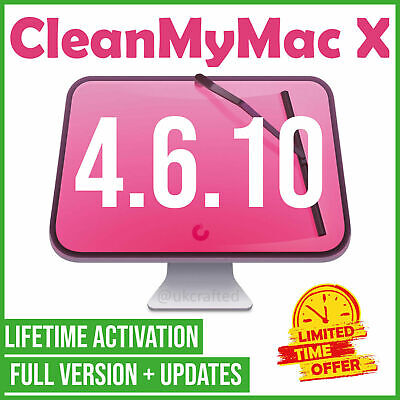 CleanmyMac X 4.6.10 ✅ FULL VERSION 🔥 2020 ✅ LIFETIME ACTIVATION ⚡ FAST DELIVERY • 3£