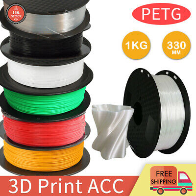 PETG 3D Printer Filaments 1.75mm Printing Consumables 1KG Spool-Premium Quality • 12.99£