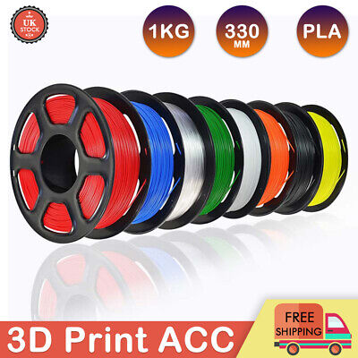 3D Printer Printing Filament 1.75mm 1KG Spool Accuracy Makerbot PLA Material UK • 11.99£