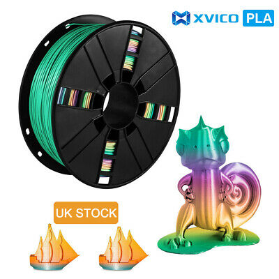 PLA Filament 3D Printer Filament 1.75mm 1KG Rainbow Filament PLA Consumables • 20.99£
