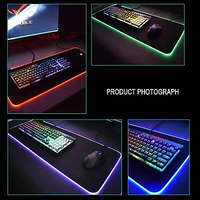 New 900*350mm COLORFUL LED LIGHTING RGB Mouse Pad PC Game Desk Play Mat • 9.69£