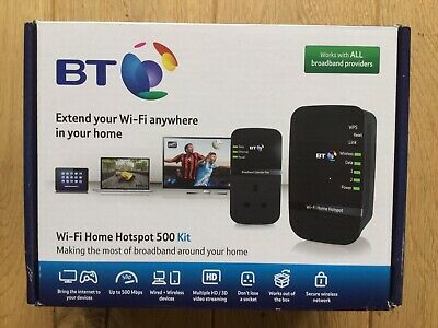 BT Wi-Fi Home Hotspot 500 Kit, Complete, Working • 12£