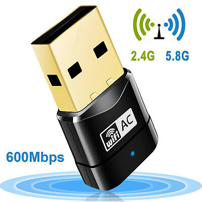 2.4-5ghz 600 Mbps USB Dual Band Wireless Adapter WiFi Dongle 802.11 AC PC Laptop • 6.79£