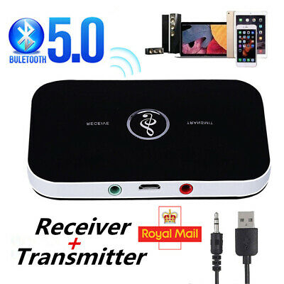 Bluetooth Wireless Audio Transmitter Receiver HiFi Music Adapter AUX RCA 2 In 1 • 7.39£
